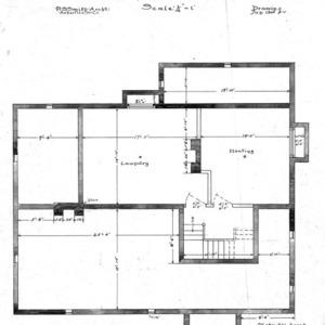 Six Room Cottage No. 20 for Geo. W. Vanderbilt Esq--Basement Plan