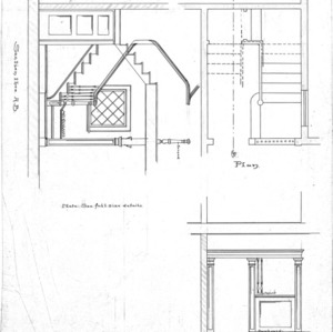 Six Room Cottage No. 20 for Geo. W. Vanderbilt Esq--Section through A-B Plan Front View