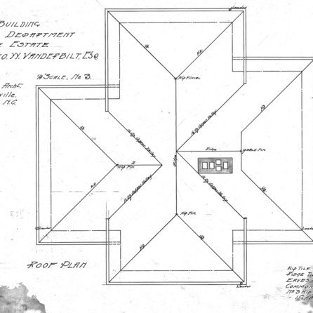 Office Building-Foresters Department for Geo. W. Vanderbilt Esq--Roof Plan-Drawing No. 3