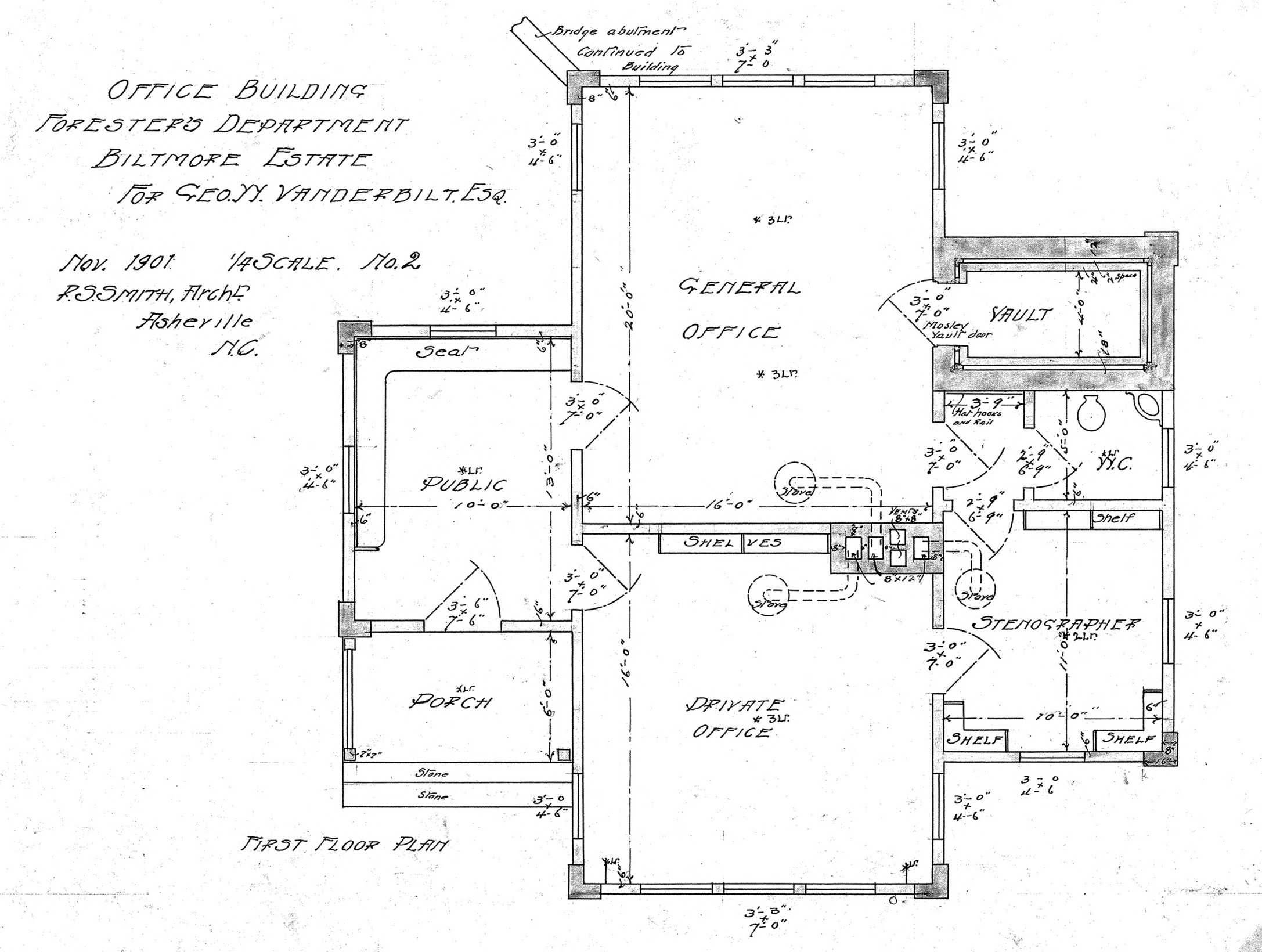 Office building foresters department for geo w for Office building blueprints