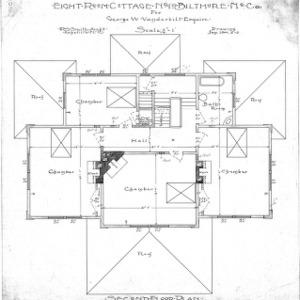 Eight Room Cottage- No. 19 for Geo. W. Vanderbilt Esq-- Second Floor Plan-Drawing 2-3