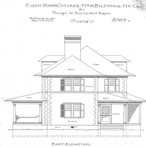Eight Room Cottage- No. 19 for Geo. W. Vanderbilt Esq--East Elevation