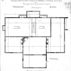 Eight Room Cottage- No. 19 for Geo. W. Vanderbilt Esq--Basement Plan-Drawing 2-1