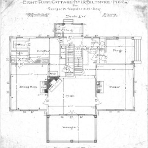 Eight Room Cottage- No. 19 for Geo. W. Vanderbilt Esq--First Floor Plan-Drawing 2-2