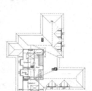 Cottage Hospital for Geo. W. Vanderbilt Esq--Attic & Roof Plan