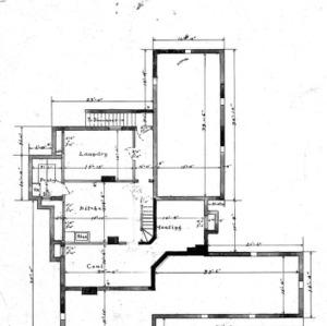 Cottage Hospital for Geo. W. Vanderbilt Esq--Basement Plan