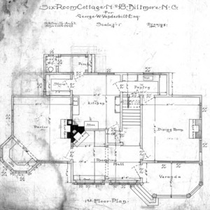 Six Room Cottage--First Floor Plan 1-2