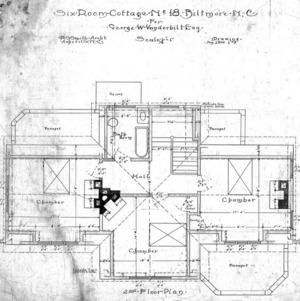 Six Room Cottage--No. 18--Second Floor Plan 1-8
