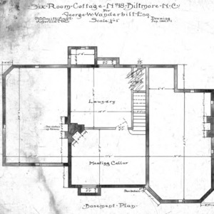 Six Room Cottage--No. 18--Basement Plan 1-1