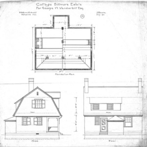 Cottage for Geo. W. Vanderbilt Esq--Foundation Plan Side Rear