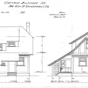 "Cottage ""A-2""--Rear & Side Elevation"