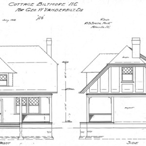 "Cottage ""A-2""--Front & Side Elevations"
