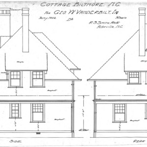 "Cottage ""D2"" for Geo. W. Vanderbilt Esq--Side & Rear"