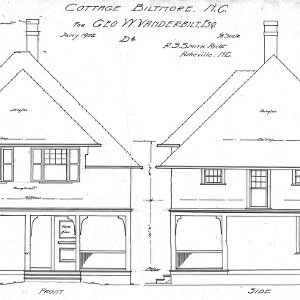 "Cottage ""D2"" for Geo. W. Vanderbilt Esq--Front & Side"