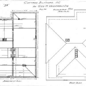 "Cottage ""B2""--Basement & Roof Plan"