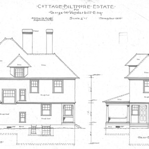 Cottage for Geo. W. Vanderbilt Esq.--Side & Rear Elevation