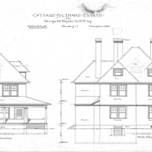 Cottage for Geo. W. Vanderbilt Esq--Front & Side