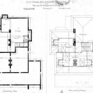 Cottage for Geo. W. Vanderbilt Esq--Foundation Attic Roof Plan