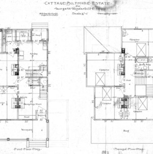Cottage for Geo. W. Vanderbilt Esq--First and Second Floor Plan