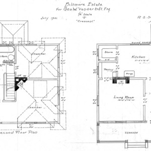 """Z"" Crescent for Geo. W. Vanderbilt Esq--Second & First Floor Plan"