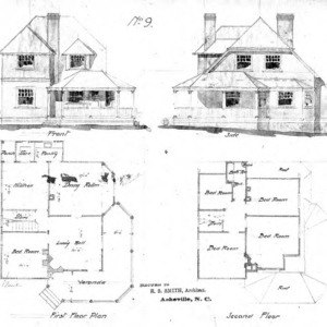 Cottage No. 9--Elevations & Floor Plans