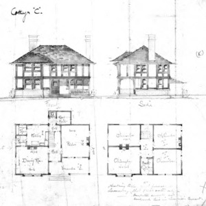 "Cottage ""C""--Elevations & Floor Plans"