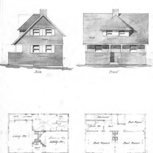 A Study for a Cottage--Elevations & Floor Plans