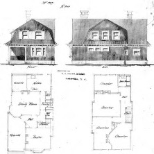 A Study for a Cottage No. 3-- Elevations & Floor Plans