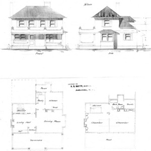 Sketch No. 28--Front & Side First & Second Floor Plan