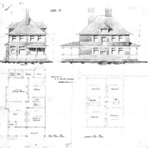 Sketch--Front & Side First & Second Floor Plan