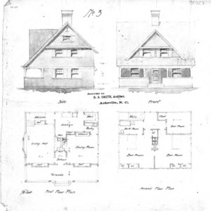 Cottage - No. 3--Side & Front First & Second Floor Plan