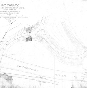 Biltmore--Grading Plan for surroundings of Swannanoa Gate Lodge