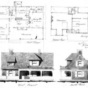 Cottage – Unidentified--First & Second Floor West Front & South Side
