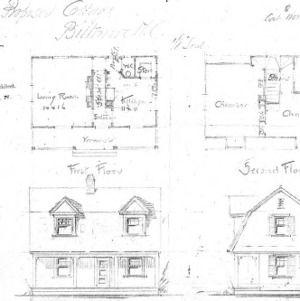 Proposed Cottage--First & Second Floor Front & Side