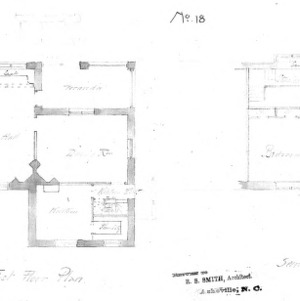 Cottage No. 18--First & Second Floor Plan