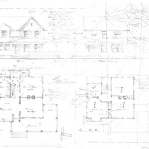 Cottage - Unidentified - Plan #1--Front & South Side First & Second Floor Plan