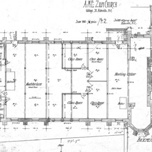 AME Zion Church-- Basement Plan - No. 2