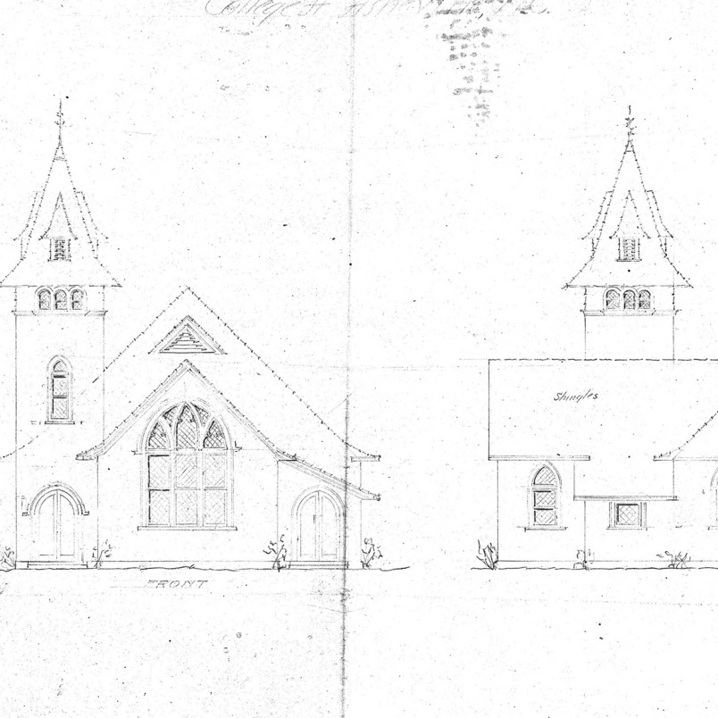 AME Zion Church-- Front & Side Elevation Floor Plan