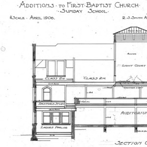 Additions to First Baptist Church - Sunday School Section A -B-C-D
