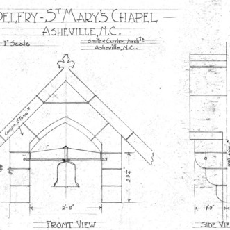 St. Mary's Chapel--Belfry--Front & Side View