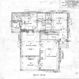 A Rectory For St. Mary's Church--First Floor - Drawing No. 2