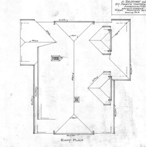 A Rectory For St. Mary's Church --Roof Plan - Drawing No. 4