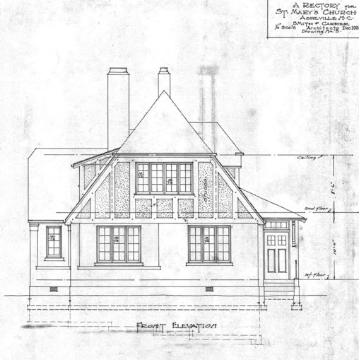 A Rectory For St. Mary's Church--Front Elevation - Drawing No. 5