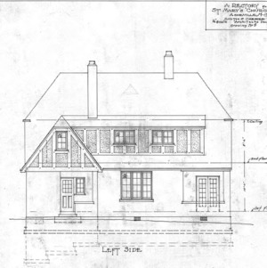 A Rectory For St. Mary's Church--Left Side - Drawing No. 8