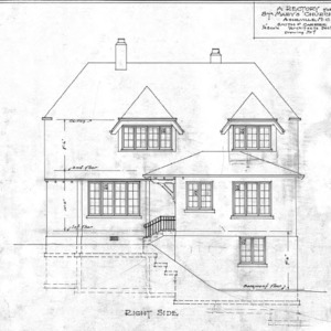 A Rectory For St. Mary's Church--Right Side - Drawing No. 7
