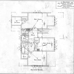A Rectory For St. Mary's Church--Second Floor - Drawing No. 3