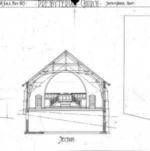 Presbyterian Church - Market Street--Market St. Front Section Floor Plan