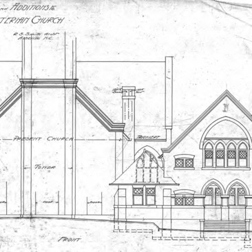 First Presbyterian Church--Alterations & Additions - Drawing No. 4 – Front