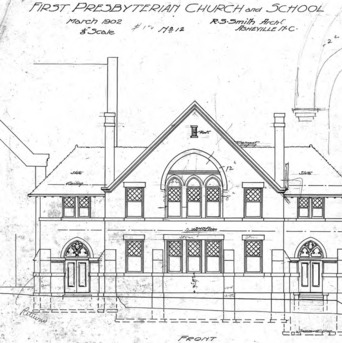 First Presbyterian Church --Church and School - No. 12 – Front