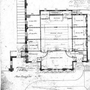 First Presbyterian Church--Church and School - No. 10 - First Floor Plan
